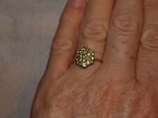 Demantoid Garnet, 10k Gold, size 8.5