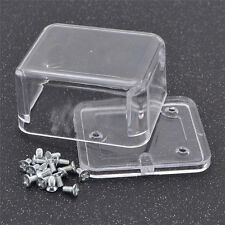 Clear Rectangle Acrylic Music Box Hand Crank Case Jewelry Organizer Container