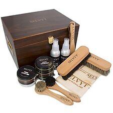 Selvyt Essential Shoe Care Walnut Veneered Valet Gift Box Filled