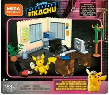 New Sealed Mega Construx Pokemon Movie- Detective Pikachu Office Fast Free Ship!