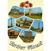 AK Berlin / Berliner Mosaik, Flughafen Tempelhof, Deutsche Oper, Hilton Hotel