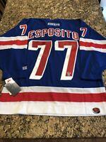 Phil Esposito Autographed New York Rangers Authentic CCM Jersey PSA/DNA COA