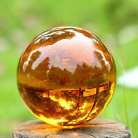 Amber Asian Rare Natural Quartz Magic Crystal Healing Ball Sphere 4CM With Stand
