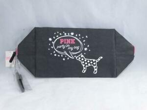 PINK Victoria's Secret Makeup Bag Cosmetic Travel Pouch & Marker Party In My Bag