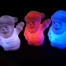 Colors Changing LED Night Light Lamp Christmas Santa Claus Kids Gift Party Decor
