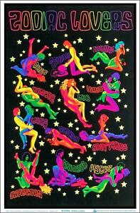 "Zodiac Lovers Blacklight Poster - Flocked - 23"" x 35"""