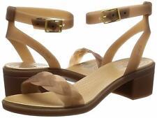 Crocs Women's Isabella Block Heel Wedge Sandal, Bronze/Gold, Size 4.0