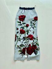Dolce Gabbana  Silk Roses Maxi skirt.IT 40 NWT