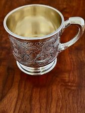 SUPERB KERR HEAVY GAUGE STERLING SILVER FOOTED CHRISTENING BABY CUP NO MONOGRAM