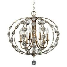 Feiss Leila 6-Light Chandelier in Burnished Silver - F2740-6BUS