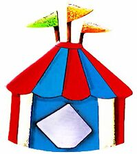 Sizzix Circus Tent large die #655639 MSRP $15.99 Retired, Cuts Fabric!