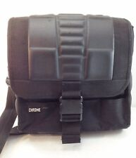 Chrome Black Nylon Rubber Semi-Hardshell Messenger Shoulder Bag