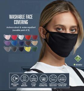 5 X Lavable Et Réutilisable Protection Masques / Visage Housse / Respirant
