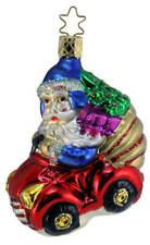 Inge Glas Santa Christmas Cruiser 1-026-03 German Glass Christmas Ornament