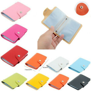 PU Leather Function 24 Bits Card Case Business Card Holder Credit Passport Bag