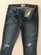 PAIGE NWT Skyline Ankle Peg Mid Rise Ankle Skinny Gia Made in USA Size 30x28