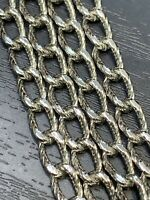 """VINTAGE Monet Silver Tone Textured Chain 54"""" LONG NECKLACE SIGNED"""