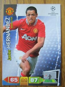 Javier Hernandez of Manchester United Champions League 2011/12 base card