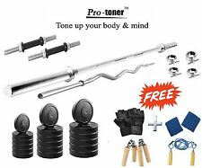 Protoner 40 Kg With 4 Rods Weight Lifting  Home Gym Fitness Pack
