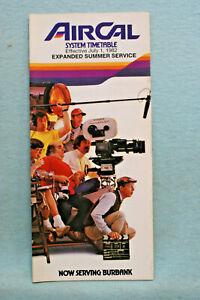 AirCal Timetable - July 1, 1982