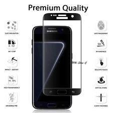 Screen Protector for SAMSUNG Galaxy S7 Edge Glass FILM Tempered COVER 5D Black