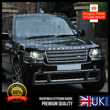 OVERFINCH LETTERING CHROME or BLACK RANGE ROVER SPORT BADGE BOOT BONNET EVOQUE