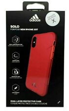 Genuine Adidas Solo Dual Layer Shockproof Case Cover For iPhone Xs iPhone X Red