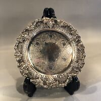 """Vintage Haddon Hall Official Reproduction Sheffield Silver Plate 6"""" Serving Tray"""