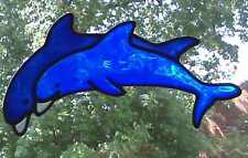 Dolphins Stained glass effect window cling