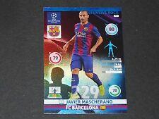 MASCHERANO DEF. ROCK BARCELONE UEFA PANINI FOOTBALL CHAMPIONS LEAGUE 2014 2015