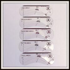 Anastasia Beverly Hills 5 STENCILS Petite Slim High Medium Full NIB Authentic