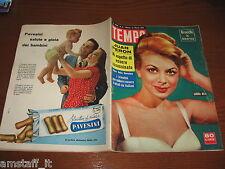 RIVISTA TEMPO 1956/11=SANDRA MILO=JUAN PERON=PAOLA BOLOGNANI=DIANE CILENTO=