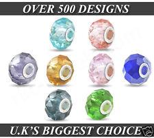 25pcs X MIX COLOUR Silver FACETED BEADS CHARMS UK WHOLESALE GLASS For BRACELETS