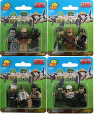 COBI - Small Army 3-Piece Figure Sets (4) ~ 12 Figures in Total #NEW