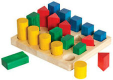 """Guidecraft Colored Geo Forms,Age 2+ yrs, 4"""" h x 8.5"""" w x 10"""" l G2004 New"""