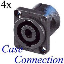 4x NEUTRIK NL4MP # Speakon Einbaubuchse - 4polig # 4 pole speaker connector
