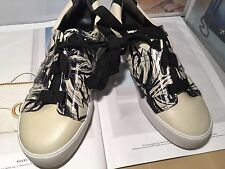 3.1 PHILLIP LIM Women's White Leather Sneakers Sold Out $1,100 NEW