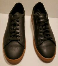 Men's Clae Bradley Black Leather Gum Low Top Sneakers size 11.5