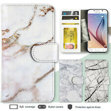 Galaxy S8 Note 8 S7 Edge Case Marble II Print Wallet Leather Cover for Samsung