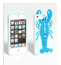New Tory Burch 'Lobster' Blue Silicone Smartphone Case for Apple iPhone 5 5S