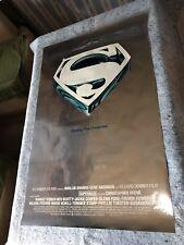 Superman 1978 Original 1 Sheet Movie Poster (F/VF) Rare Mylar Xmas Advance Style