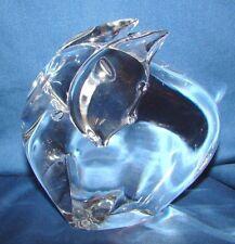 Steuben Crystal Elephant w/ Trunk Down Figurine