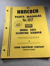 Hancock-Clark 292C Scraper Parts Manual