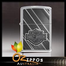 Zippo Harley Davidson-Logo High Polish Chrome Lighter 2571 - Free Shipping in au