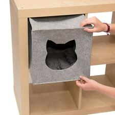 Cat Den For Shelves Privacy Bed Napper Foldable Cube Washable £10 Free Treats