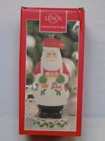 Lenox Spicy Santa Claus China Christmas Pepper Mill Grinder Holiday 830139 Decor