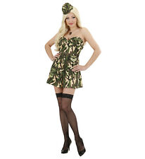 Women's Carnival Costume Girl Soldier Military Ps 22905