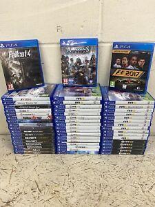 53 x PS4 Games Job Lot - Fallout Assassins F1 Fifa COD Destiny NHL NBA