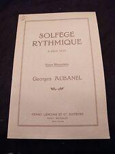 Partition Solfège rythmique à 2 voix Georges Aubanel