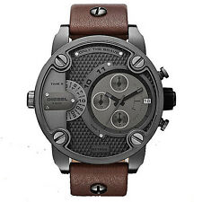 Diesel DZ7258 New Original * SBA Oversized Chronograph Brw Leather * Men's Watch